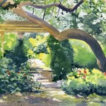 watercolor painting at Airlee Gardens