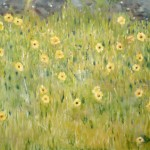 painting of yellow wildflowers