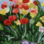 Painting of spring flowers