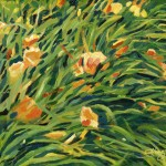 Painting of Yellow Day Lilies
