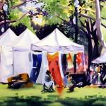 watercolor of craft vendors